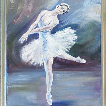 Pictures and panels handmade. Livemaster - original item Oil painting. Ballerina. Handmade.