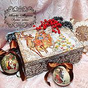 Для дома и интерьера handmade. Livemaster - original item Christmas jewelry box beads. Handmade.
