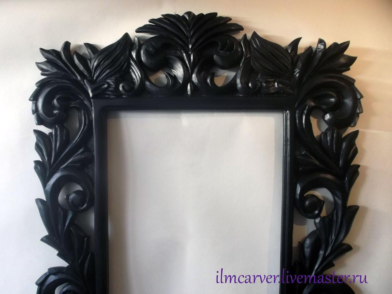El tallado en madera. Marco para un espejo (grande) – compra u ordena en la tienda en línea en el Livemaster