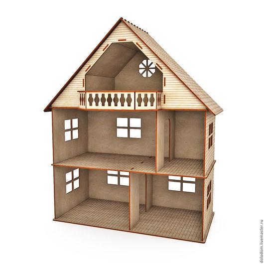 Кукольный дом ручной работы. Ярмарка Мастеров - ручная работа. Купить КД-0000028 Кукольный домик 3 этажа с балконом. Handmade.