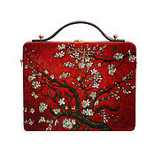 Сумки и аксессуары handmade. Livemaster - original item Bag Flowering almond wood with painting. Handmade.