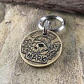 Зоотовары handmade. Livemaster - original item Medallion addressee with Jolly Roger. Handmade.