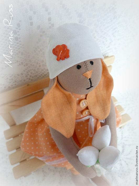 Куклы Тильды ручной работы. Ярмарка Мастеров - ручная работа. Купить Заяц Тильда. Handmade. Тильда заяц, игрушка, пуговицы