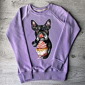 "Одежда handmade. Livemaster - original item Copy of of sweatshirt women with the author print ""Panda"". Handmade."
