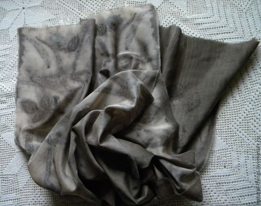 """Шарфы и шарфики ручной работы. Ярмарка Мастеров - ручная работа. Купить Шарф """"Следы на воде"""". Handmade. Серый, шарф"""