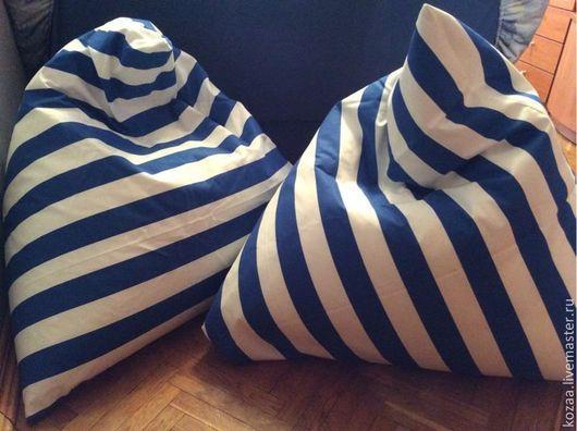 """Детская ручной работы. Ярмарка Мастеров - ручная работа. Купить """"Морские пирамидки"""" в синюю полоску. Handmade. Полоски, дети, хлопок"""