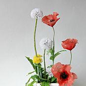 Цветы и флористика ручной работы. Ярмарка Мастеров - ручная работа Маки и одуванчики. Handmade.