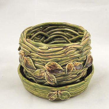 Flowers and floristry handmade. Livemaster - original item Flower pot Swamp nymph. Handmade.