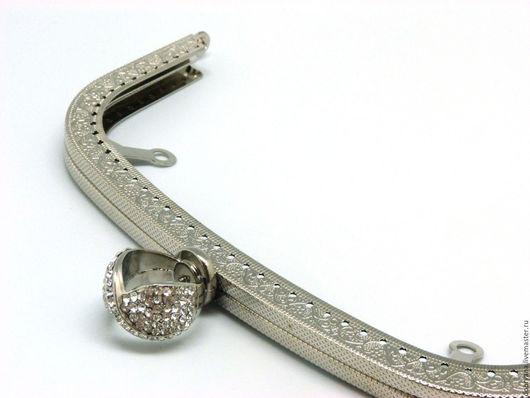 Шитье ручной работы. Ярмарка Мастеров - ручная работа. Купить Фермуар 20,5 см с кольцом дуга, серебро. Handmade.