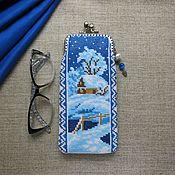 Сумки и аксессуары handmade. Livemaster - original item Glasses case, phone Winter evening. Handmade.