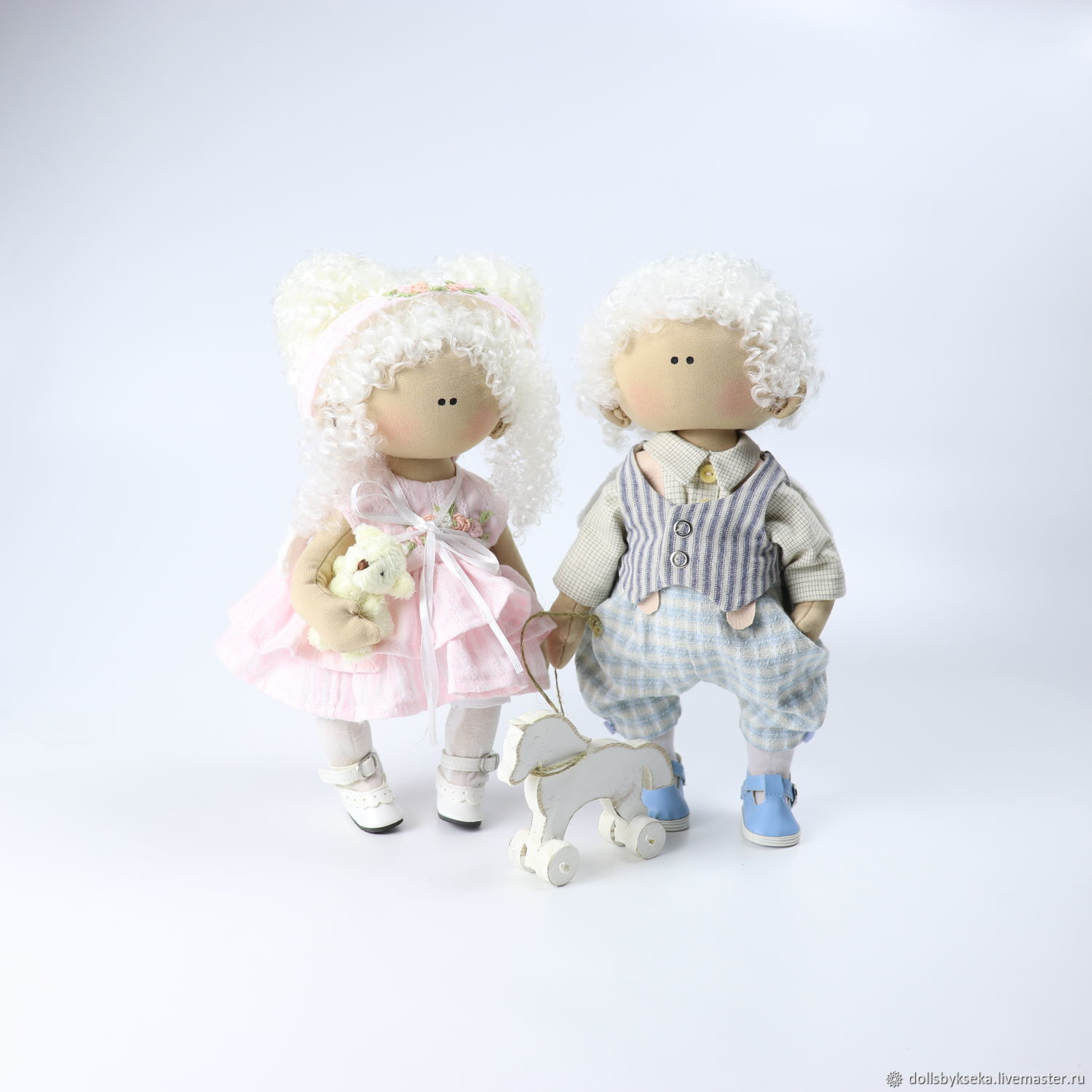 A pair of angels. Interior design games doll. Handmade doll, Round Head Doll, Moscow,  Фото №1