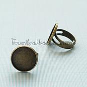 Ф099 Основа для кольца 1,8 см под бронзу