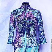 Одежда ручной работы. Ярмарка Мастеров - ручная работа Валяный жакет из шелка и шерсти..Баллада о драконах...... Handmade.
