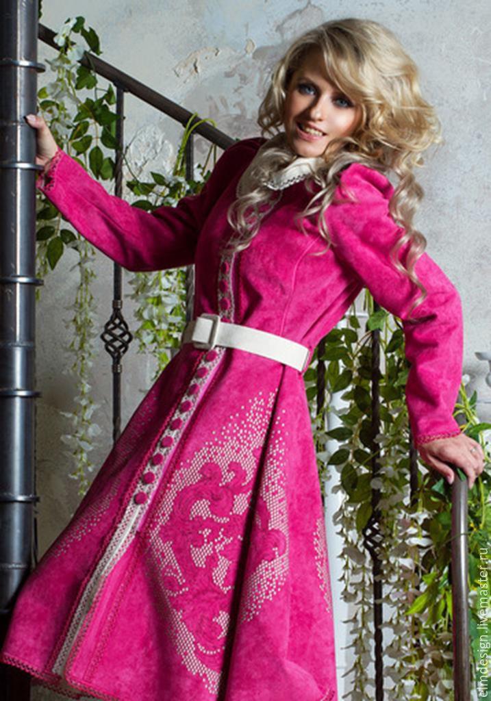 Designer coat, pink coat, Afghan Coats, Moscow,  Фото №1
