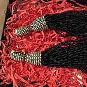 Украшения ручной работы. Ярмарка Мастеров - ручная работа Серьги-кисти в стиле Оскар де ла Рента. Handmade.