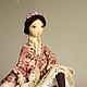Коллекционные куклы ручной работы. Ярмарка Мастеров - ручная работа. Купить Настасья, авторская текстильная кукла, подвижная, интерьерная, подарок. Handmade.