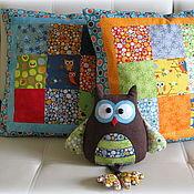 """Для дома и интерьера ручной работы. Ярмарка Мастеров - ручная работа Комплект наволочек """"Совы"""" с подушкой-игрушкой. Handmade."""