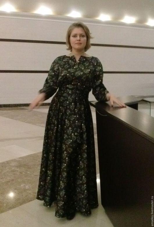 Платья ручной работы. Ярмарка Мастеров - ручная работа. Купить Платье. Handmade. Комбинированный, платье в пол, платье на заказ