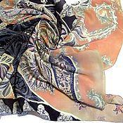 """Аксессуары ручной работы. Ярмарка Мастеров - ручная работа Батик-шаль """"Розовый жемчуг"""". Handmade."""