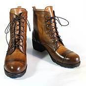 Обувь ручной работы. Ярмарка Мастеров - ручная работа Ботинки в стиле милитари. Handmade.