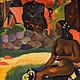Пейзаж ручной работы. Ярмарка Мастеров - ручная работа. Купить Картина маслом на холсте по мотивам картины Гогена Ее зовут Вайраумати. Handmade.