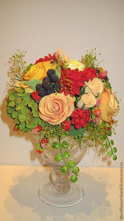 Цветы ручной работы. Ярмарка Мастеров - ручная работа. Купить Букет из роз. Handmade. Букет, букет роз, красный