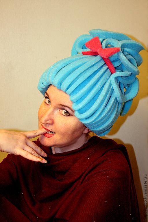 """Детские карнавальные костюмы ручной работы. Ярмарка Мастеров - ручная работа. Купить парик карнавальный """"Принцесса"""". Handmade. Голубой, парик"""