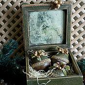 Подарки к праздникам ручной работы. Ярмарка Мастеров - ручная работа Три орешка для Золушки - набор елочных шаров. Handmade.