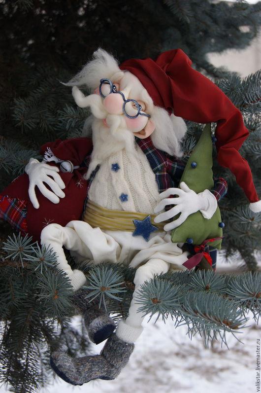Коллекционные куклы ручной работы. Ярмарка Мастеров - ручная работа. Купить текстильная кукла Дед Мороз. Handmade. Новый Год