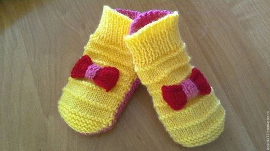 Носки, Чулки ручной работы. Ярмарка Мастеров - ручная работа. Купить Носочки Для маленькой принцессы. Handmade. Разноцветный