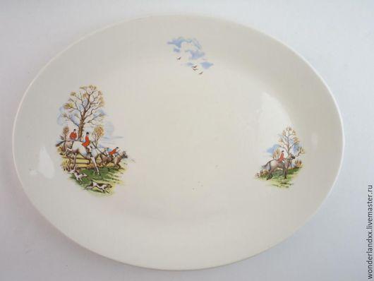 """Винтажная посуда. Ярмарка Мастеров - ручная работа. Купить Блюдо для """"настоящего охотника"""" :) Англия, 70е. Handmade. Комбинированный, фаянс"""