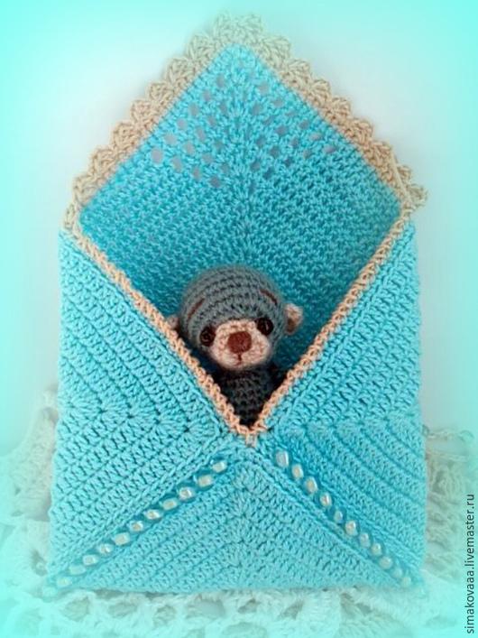 Мишка игрушка Крошка Аквамаринчик в конверте