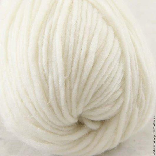 Вязание ручной работы. Ярмарка Мастеров - ручная работа. Купить 100% австралийская шерсть цвет белый. Handmade. Белый, пряжа
