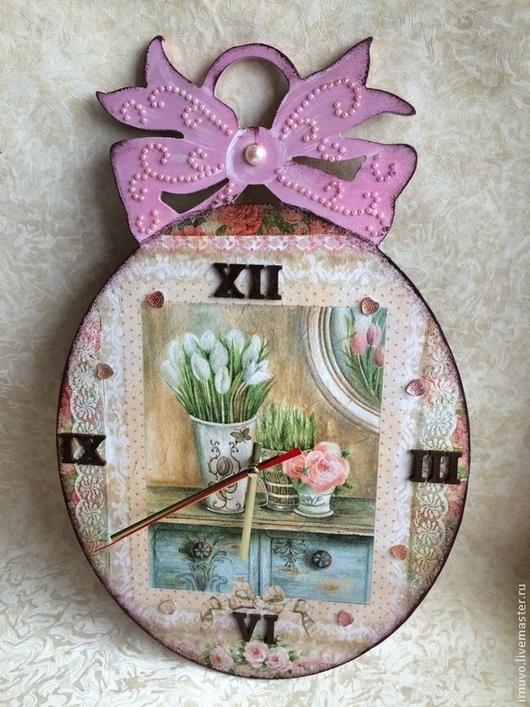 Часы для дома ручной работы. Ярмарка Мастеров - ручная работа. Купить Часы девичьи. Handmade. Часы настенные, часы для девушки