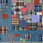 Для дома и интерьера ручной работы. Ярмарка Мастеров - ручная работа Лоскутное одеяло покрывало Любовь в квадрате. Handmade.