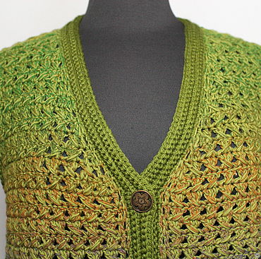 Clothing handmade. Livemaster - original item vests: Size 50-54. Vest crochet 100% wool Forest fairy. Handmade.
