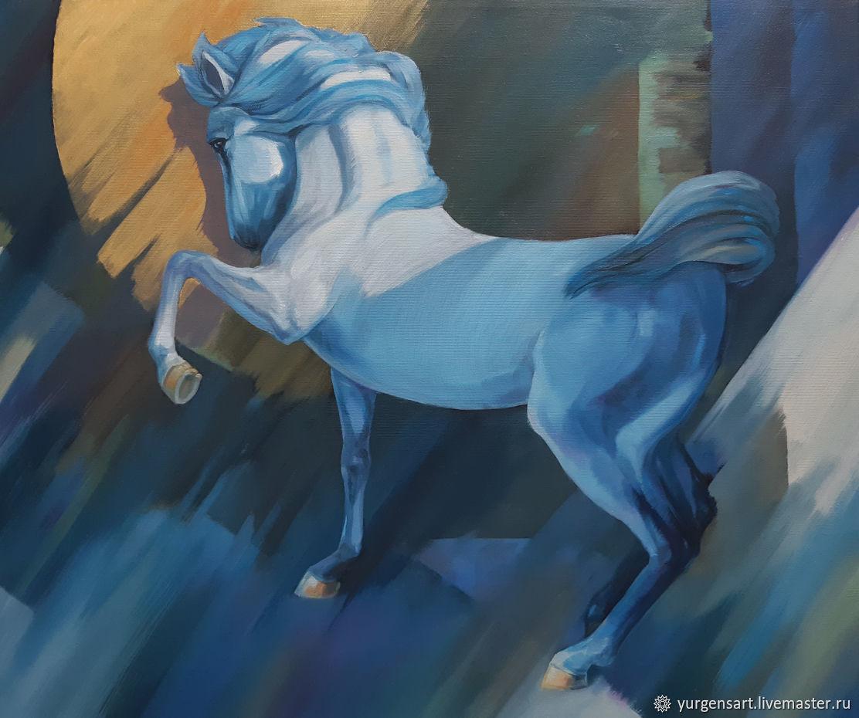 Картина с лошадью Лунный свет, Картины, Санкт-Петербург,  Фото №1