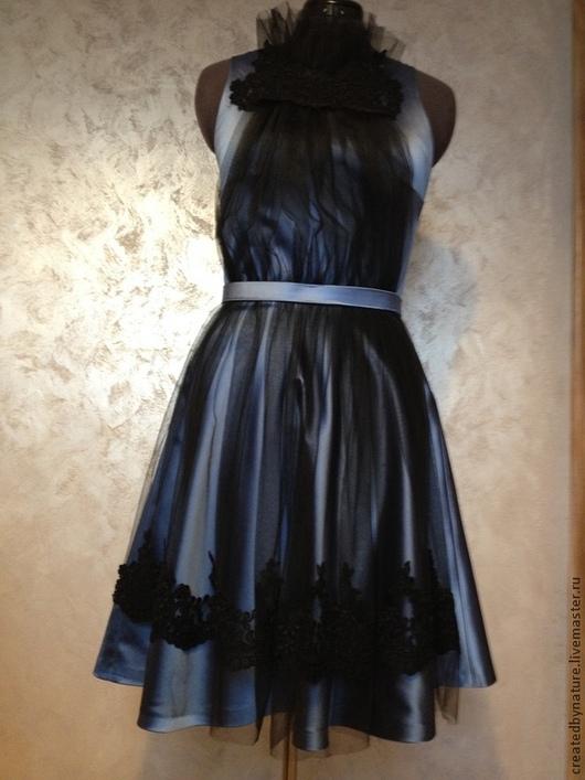 Платья ручной работы. Ярмарка Мастеров - ручная работа. Купить Коктейльное платье для девушки. Handmade. Голубой, платье коктейльное