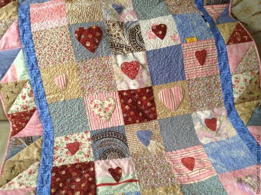 """Текстиль, ковры ручной работы. Ярмарка Мастеров - ручная работа. Купить Лоскутное одеяло """"Розовые грезы"""". Handmade. Розовый"""