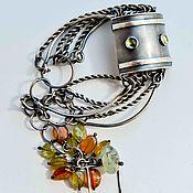 Украшения ручной работы. Ярмарка Мастеров - ручная работа Браслет серебро из натуральных камней женский серебряный. Handmade.