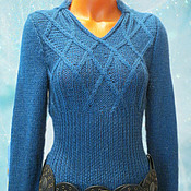 Одежда ручной работы. Ярмарка Мастеров - ручная работа Шерстяное вязаное платье. Handmade.