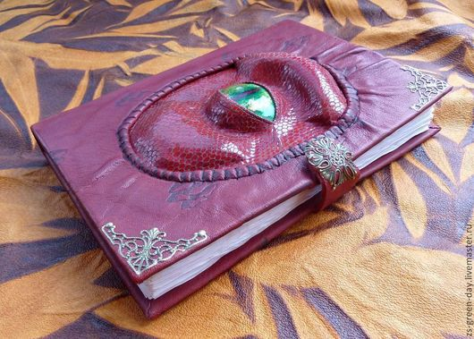 Блокноты ручной работы. Ярмарка Мастеров - ручная работа. Купить Красный дракон. Handmade. Бордовый, переплётный картон