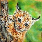 """Картины и панно ручной работы. Ярмарка Мастеров - ручная работа Картина """"Даже самое маленькое из кошачьих - совершенство"""" резерв. Handmade."""