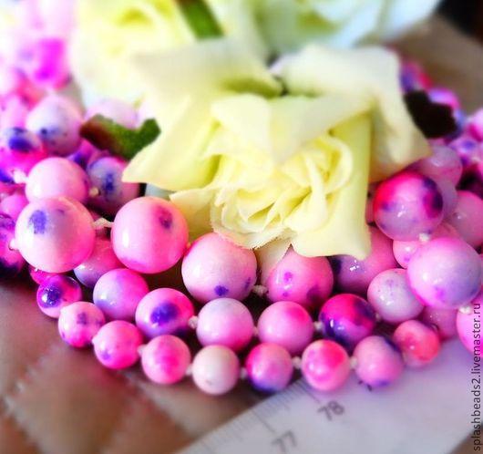 Для украшений ручной работы. Ярмарка Мастеров - ручная работа. Купить Агат тонированный розово-фиолетовый 8,10,12,14мм. Handmade.