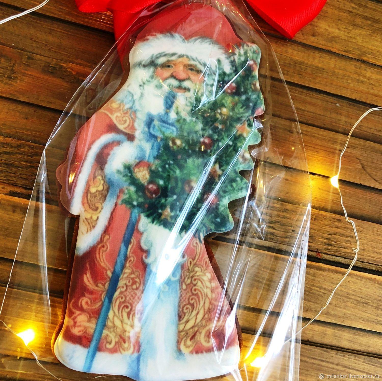 Дед мороз. Имбирный пряник ручной работы, Набор пряников, Москва,  Фото №1