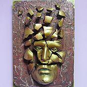 Для дома и интерьера handmade. Livemaster - original item Mask in the interior,philosophical,Pack up what`s left.. Handmade.