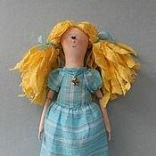 Куклы и игрушки ручной работы. Ярмарка Мастеров - ручная работа Текстильная кукла Девочка с желтыми волосами. Handmade.