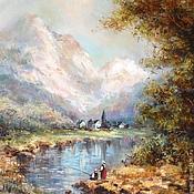 """Картины и панно ручной работы. Ярмарка Мастеров - ручная работа Картина """"Альпийский пейзаж"""".. Handmade."""