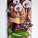 """Часы для дома ручной работы. Ярмарка Мастеров - ручная работа. Купить Витражные часы """"Орхидея с бабочкой"""". Handmade. Фьюзинг, подарок"""
