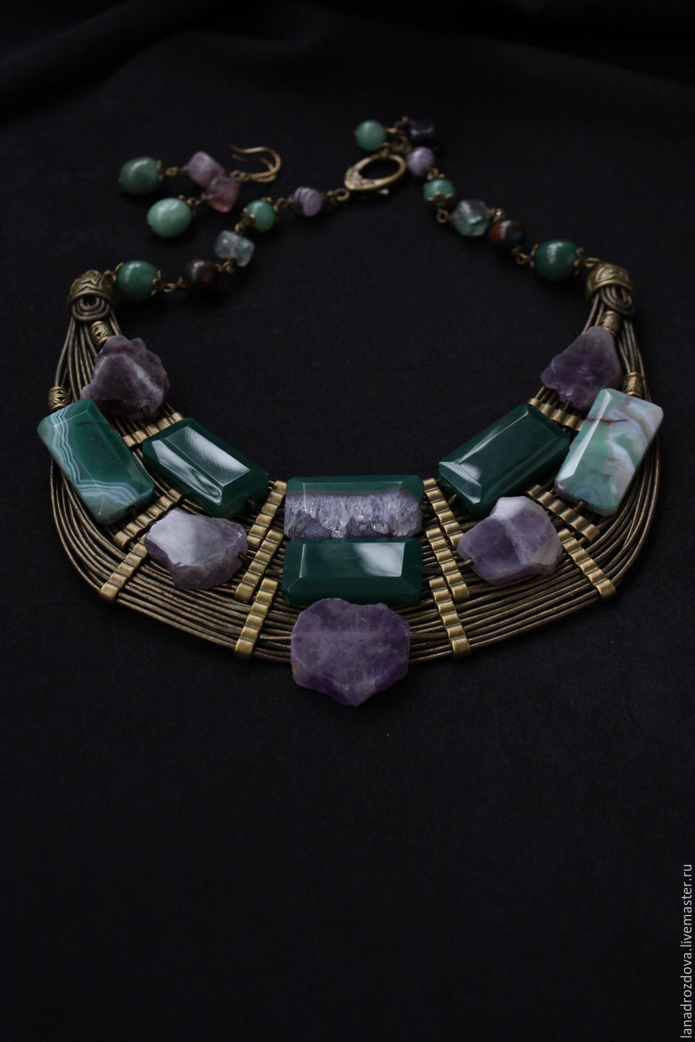 Necklace beads 'Evening', Necklace, Almaty,  Фото №1